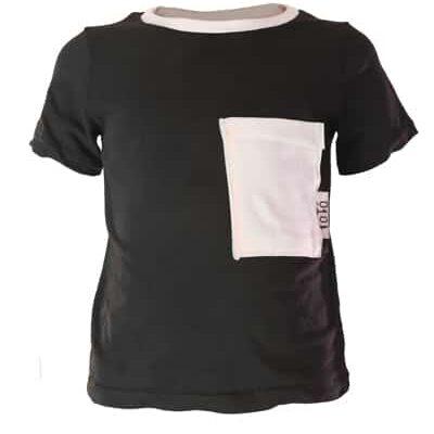 Serina negra blanca corta front