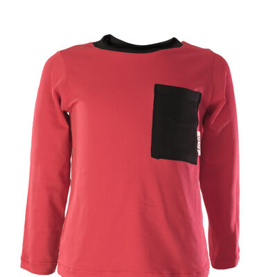 Serina roja negra larga front
